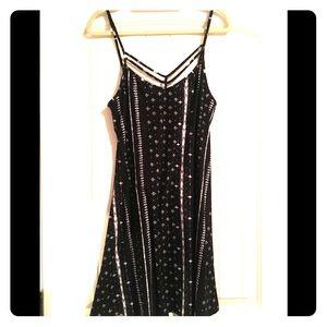 Mudd Thin Strappy Black and White Soft Dress
